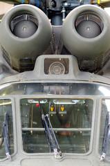 Detail turbine helicopter Aerospatiale AS 332B1 Super Puma