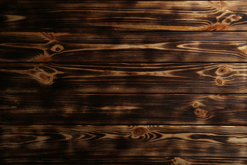 Old brown wooden background, close up