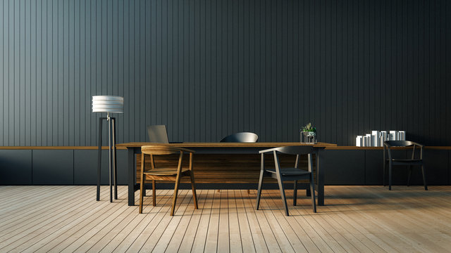 The modern interior of Boss office / 3D render image