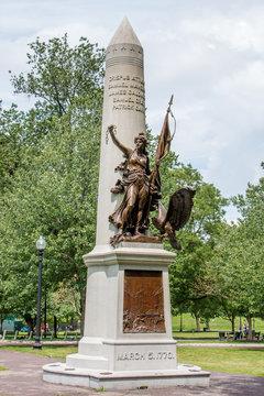 Boston Massacre Memorial in Boston Common Massachusetts USA