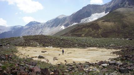 Mountain landscape at Caucasus Russia