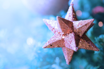 Dreamy Christmas star background - Abstract colors - Close up
