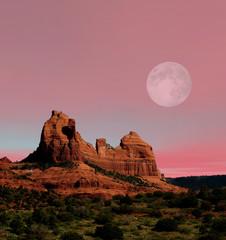 Moonrise Sedona Arizona