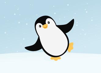 Happy dancing penguin