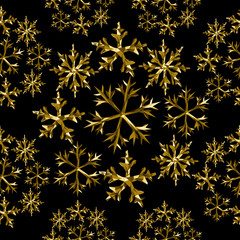 Snow winter gold low poly seamless pattern holiday
