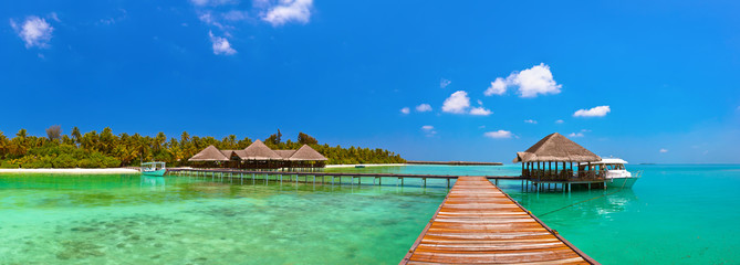 Tropisch eiland op de Malediven