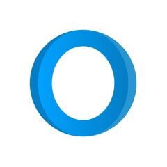 diabetes symbol, vector diabetes, blue circle