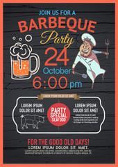 BBQ party menu is unique,