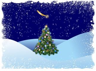 bożonarodzeniowa dekoracja z choinką,