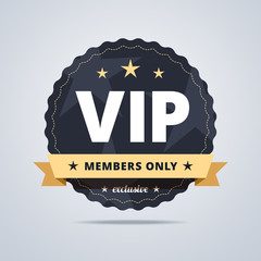 Round badge for VIP club members.