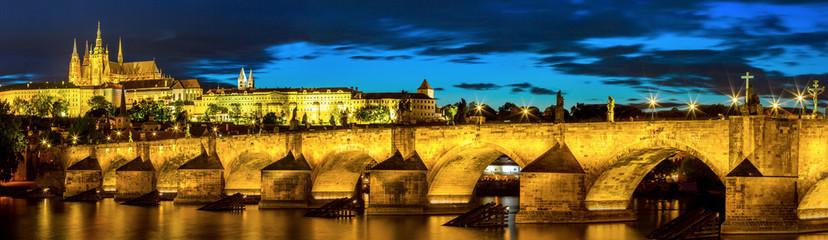 Wall Murals Prague Prague at dusk
