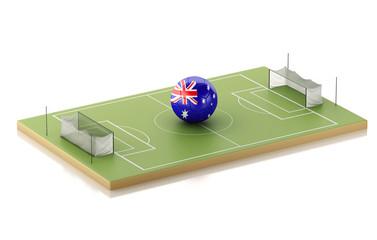 3d Soccer field and Australia ball.