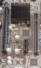 PCI slots on a modern computer mainboard