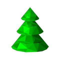 Polygonal green Christmas tree