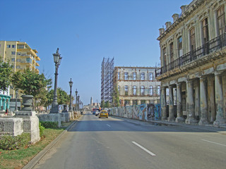 Straße in Havanna auf Kuba