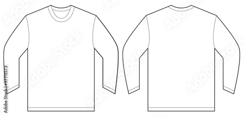 White Long Sleeve T Shirt Design Template Stock Image And Royalty