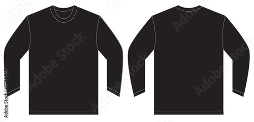 Black Long Sleeve Polo Shirt Design Template Stock Image And Royalty Free Vector Files On Fotolia