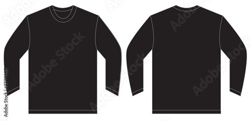 Black Long Sleeve T Shirt Design Template
