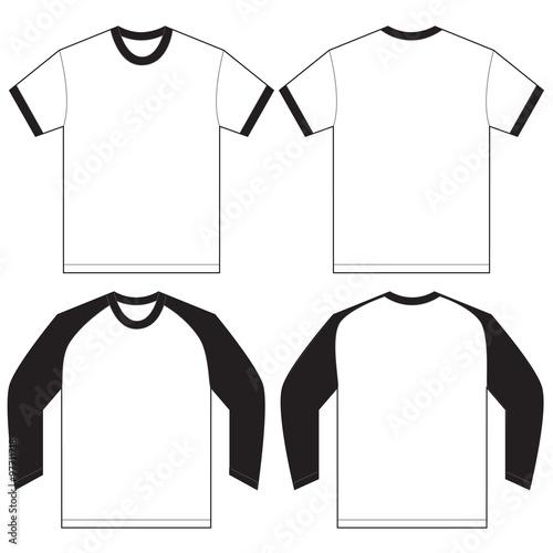 Black white ringer t shirt design template stock image and royalty black white ringer t shirt design template maxwellsz