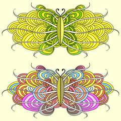 Background with abstract butterflies