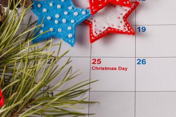 Highlighting christmas date on calendar