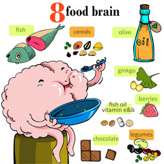 nourish the brain Vector Illustration