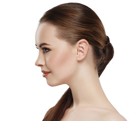 Profile woman beauty skin face neck ear