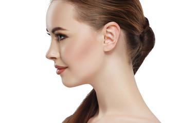 Profile woman beauty skin face neck ear