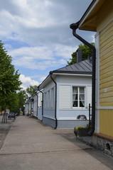 Улица в центре города Хамина в Финляндии