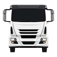 Front white truck