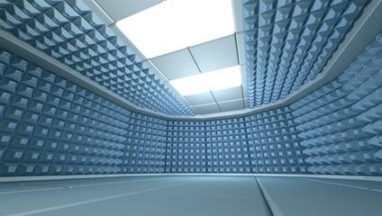 Soundproof room interior , 3d render image