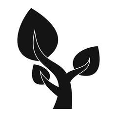 Tree saving plants simple icon
