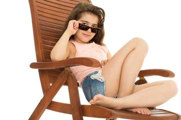 Little girl tans