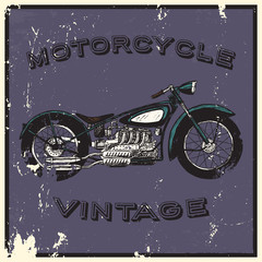 Vintage motorcycle label.