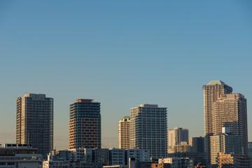 東京湾 都市風景