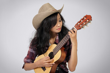 Country musician woman