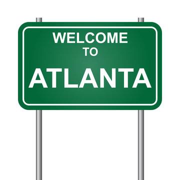 Welcome to Atlanta vector