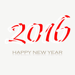 Red and white happy new year 2016