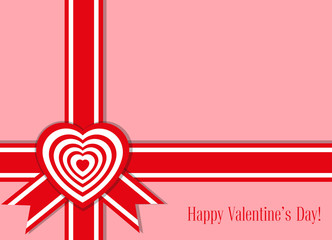 Vector banner: design for candy box or post card with cute hearts and text Happy Valentine's Day