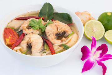 Tom Yum striped snakehead fish,Thai Food