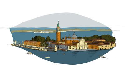 sketch of San Giorgio