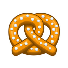 Pretzel Icon on the White Background. Vector