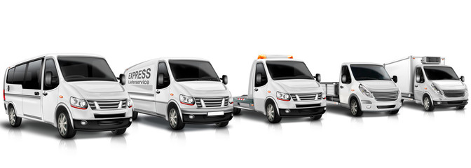 Kleintransporter Fuhrpark , Flotte, freigestellt