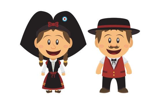 Petit couple Alsacien