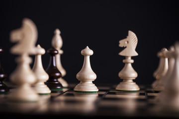 Chess. White pawns vs black