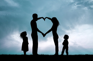 love family at sunset