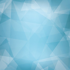 Abstract light blue background textured by triangles