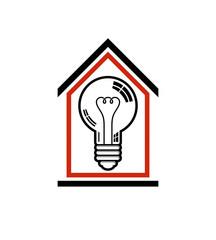 Construction idea, save electricity at home. 3d vector light bul