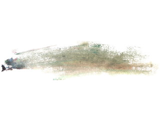 photo gray grunge brush strokes oil paint isolated on white background