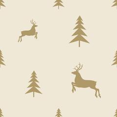christmas reindeer seamless line pattern tile background